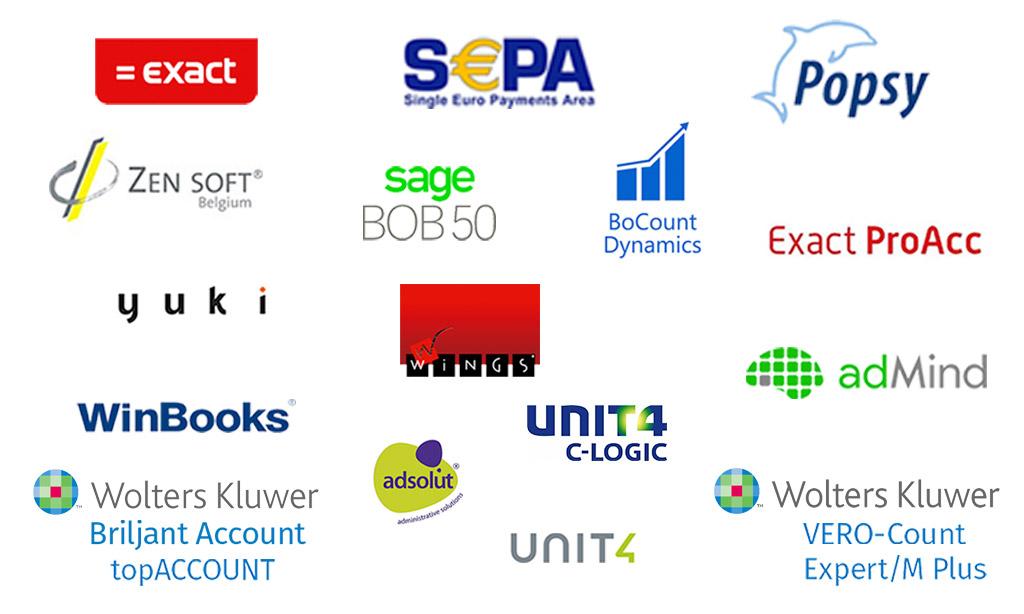 Logo's boekhoudprogramma's